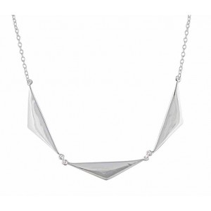 Three Triangle Silver Necklace