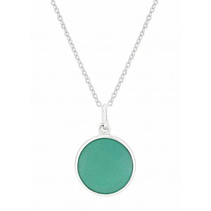 Round Turquoise Silver Necklace