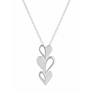 Triple Heart Silver Necklace