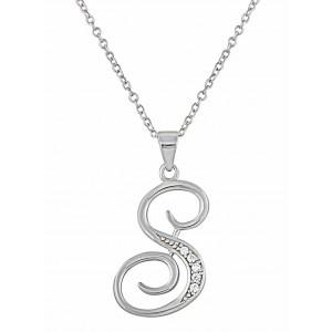 Letter S Silver Pendant