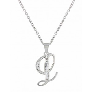 Letter L Silver Pendant