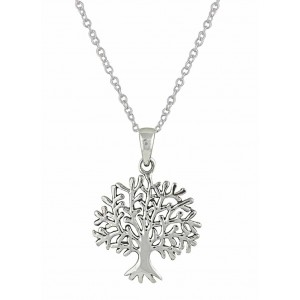 Silver Tree Pendant Necklace