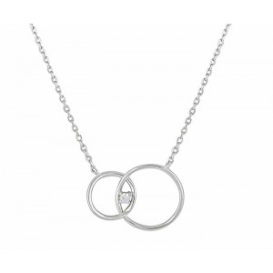 Infinity Circle Silver Necklace
