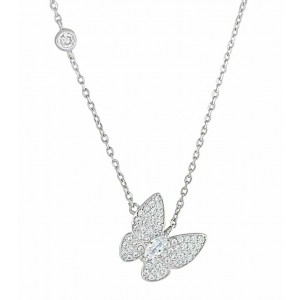 Single CZ Butterfly Necklace
