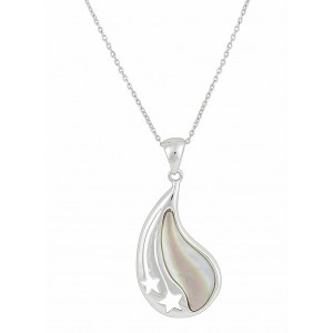 curved-teardrop-and-mother-of-pearl-silver-necklace