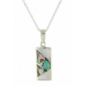 Eye-catching Silver Rectangle Mother of Pearl Ladies Pendant