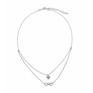 Infinity and Heart Choker Necklace