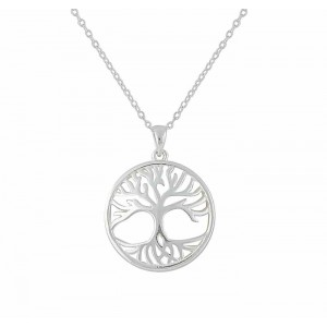 Tree of Life Disc Silver Pendant