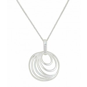 Concentric Design Circle Pendant