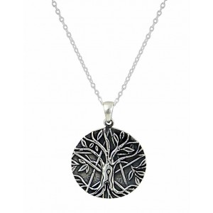 Oxidised Silver Tree of Life Necklace