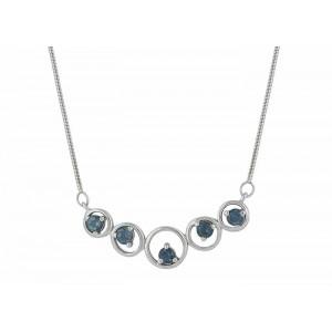 London Blue Topaz Silver Necklace