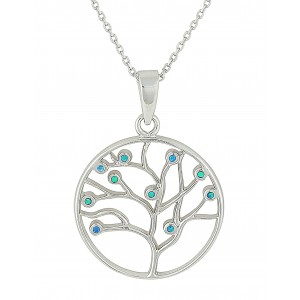 Tree of Life Opal Silver Necklace | The Opal