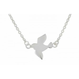 Flying Bird Silver Necklace