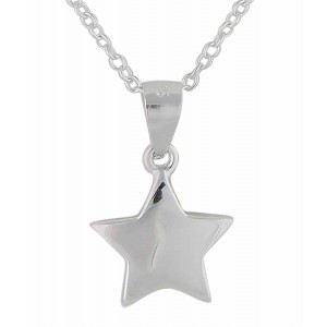 Simple Silver Star Necklace