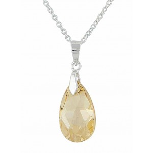 Golden Shadow Swarovski Crystal Pendant | The Opal Jewellery