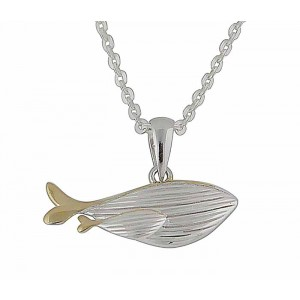 Gold Plated Silver Whale Necklace