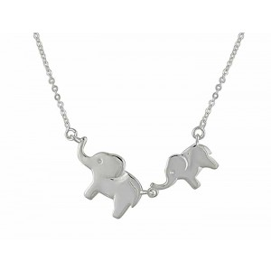 Twin Elephant Necklace