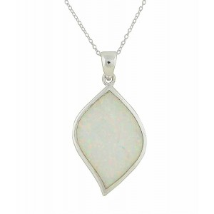 White Opal Vision Silver Pendant