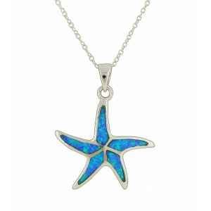 Sea Starfish Themed Drop Pendant