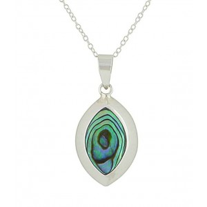 Abalone Almond Drop Pendant