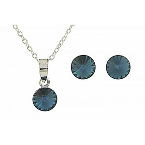 Montana Blue Swarovski Earring and Necklace Set