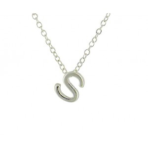 Letter S Simple Silver Necklace