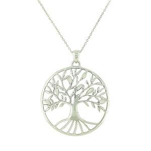 White Opal Large Tree of Life Pendant
