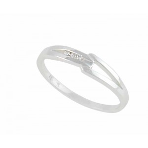 Bar Design Sterling Silver Ring