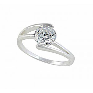 Cubic Zirconia Silver Ring