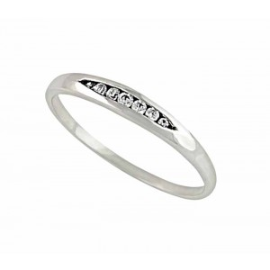 Sterling Silver Cubic Zirconia Sterling Silver Ring