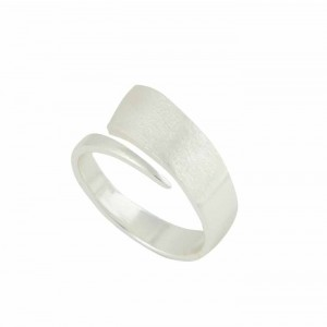 Matt Finish Silver Bar Ring