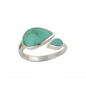 Twin Teardrop Turquoise Ring