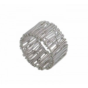 Silver Wire Statement Ring