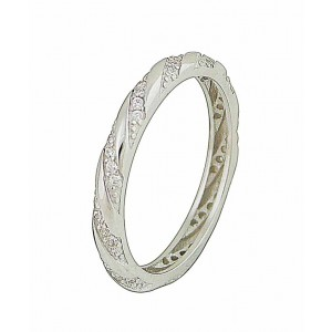 Linear Sparkle Silver Ring