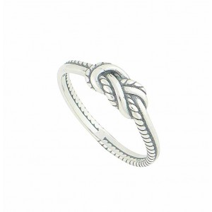 Rope Twist Sterling Silver Ring