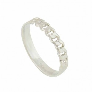 Curb Link Sterling Silver Ring