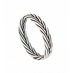 Rustic Braided Silver Ring