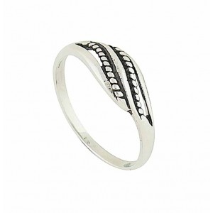 Beaded Flow Sterling Silver Ring