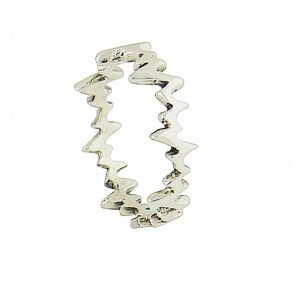 Static Trace Sterling Silver Ring