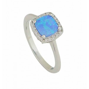 Blue Opal Regality Ring