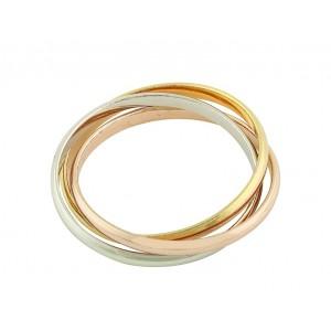 Trio Russian Silver Wedding Ring