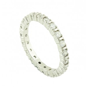 Sparkle Row Silver Ring