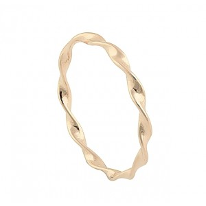 Twist and Curve Rose Gold Ring