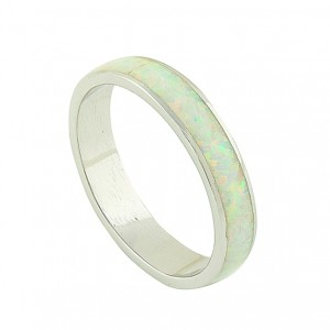 Full White Opal Feature Ring