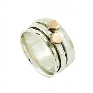 Artisan Heart Stamp Spinner Ring