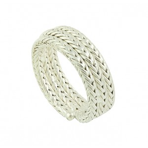 Woven Lineage Silver Ring
