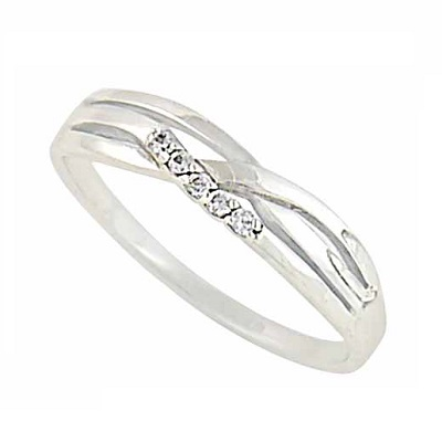 Intertwining Bar Silver Ring