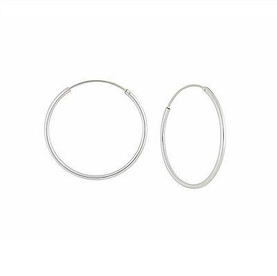 Silver Hoop Earrings 20mm