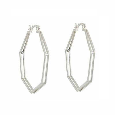 Contemporary Geometric Styling for the Hoop Earring