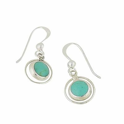 Silver Drop Earrings with a Colour Splash